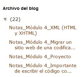 Widget Archivo del blog estilo jerarquía en Blogger sin fecha por años
