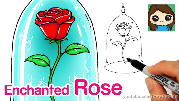 How To Draw Rose  Beauty And The Beast