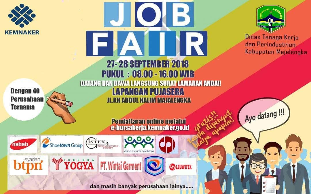 Job Fair Kemnaker Di Majalengka Gratis Lowongan Kerja Terbaru Indonesia 2020