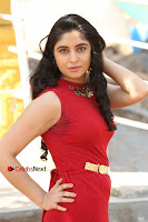 Telugu Actress Zahida Sam Latest Pos in Red Gown at RF Films New Movie Opening  0016.JPG