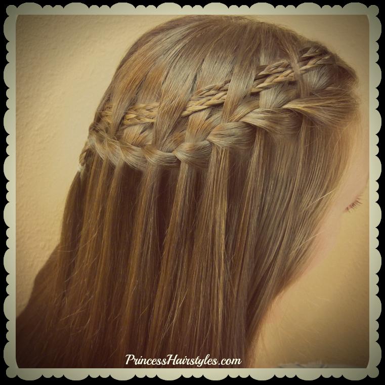 Waterfall Braid Hairstyles: Double Woven Waterfall Braid Tutorial, 2 Braided