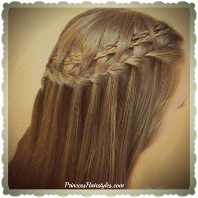 Waterfall braid with woven micro braids