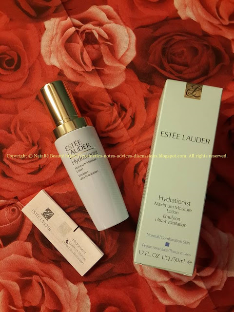 HYDRATIONIST Maximum Moisture Lotion Emulsion ultra-hydratation by ESTEE LAUDER Review and photos NATALIE BEAUTE
