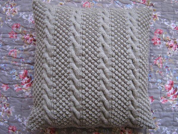 Kussenhoes Breien Met Kabelpatroon Obx14 Agneswamu