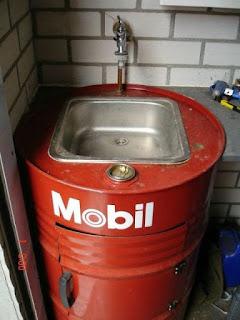 อ่างล้างมือ ถัง 200 ลิตร