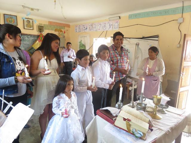 Erstkomunion in der Schule von Valle Rico