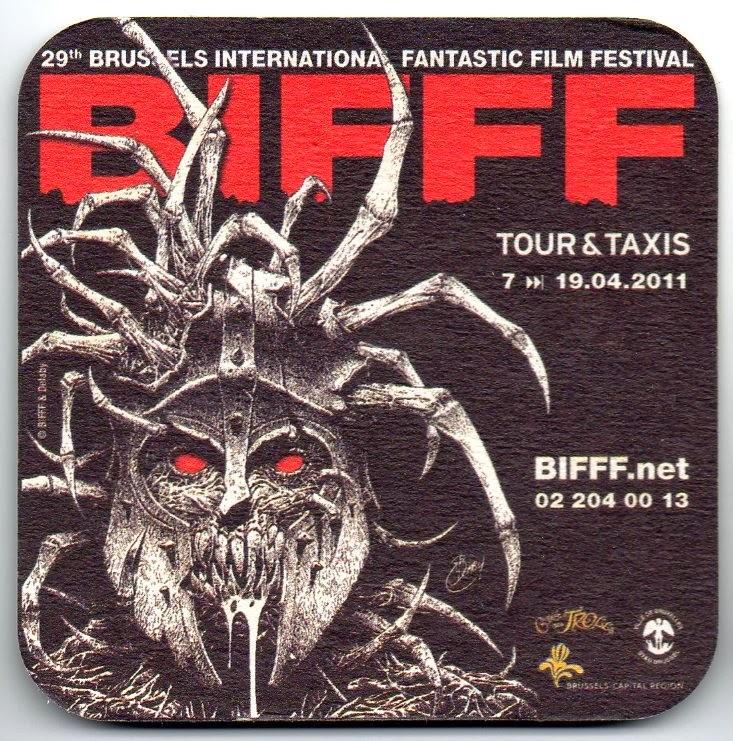 Le sous-bock de la Cuvée des Trolls édité à l'occasion du 29e BIFFF