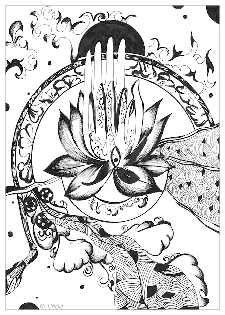 Coloring Page Adult Urielle Peace And Serenity Peace  Serenity  From  The Gallery  Zen  Anti Stressartist  Urielle