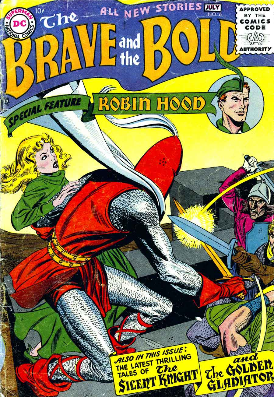 Brave and the Bold #6 dc silver age comic book cover