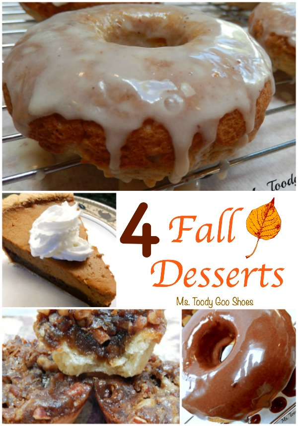 Four Fall Desserts ---  Ms Toody Goo Shoes