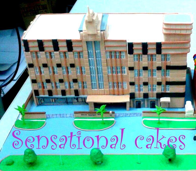 The Sensational Cakes Architect University Building 3d