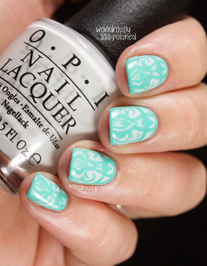 Wondrously Polished April Nail Art Challenge: Wondrously Polished: Damask Love