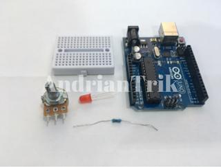 komponen potensiometer arduino
