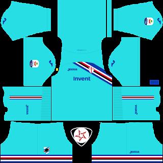 UC Sampdoria 2018 - 2019 GK Third Kit