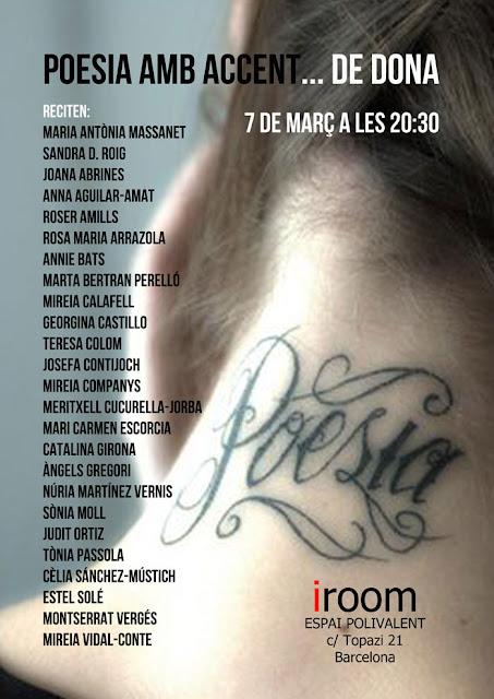 POESIA AMB ACCENT... de DONA recital 7 de març 2013 | tenim una cita a