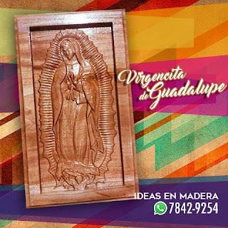 Cuadros Decorativos en Madera de la Virgen de Guadalupe
