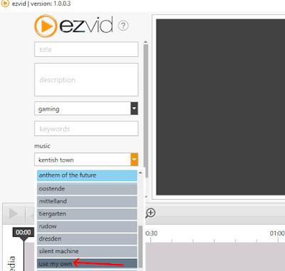 Come togliere la musica da EzVid