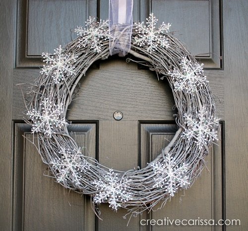 diy winter wreath tutorail