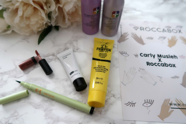 Danielle Levy, battle of the beauty boxes, beauty subscription boxes, Roccabox, Birchbox, Dr Paw Paw, Pixi Beauty, Pureology, Bare Minerals, face masks, blush, makeup, skincare,