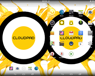 Cloudfone Cloudpad Epic 7.1 Android KitKat UI