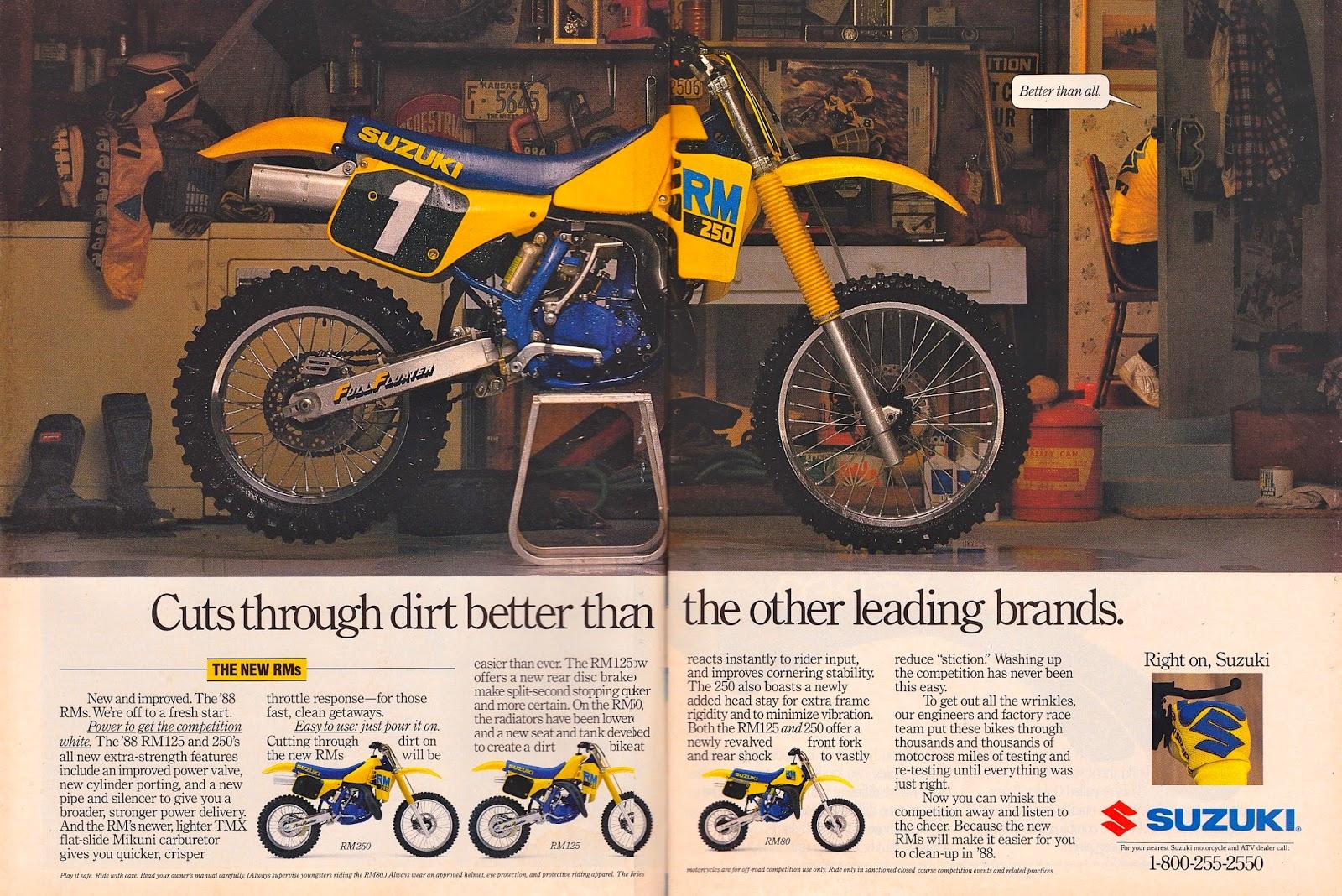 Vintage Brochures: Suzuki RM 250 1988 (Usa)
