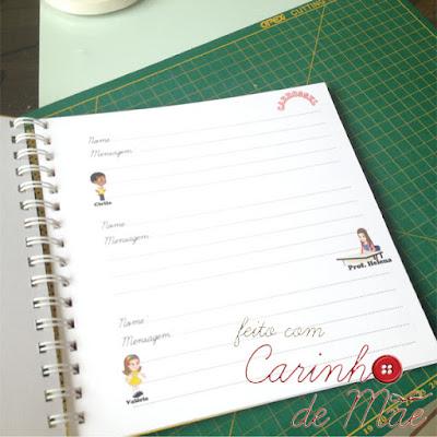 Festa carrossel caderno de mensagem