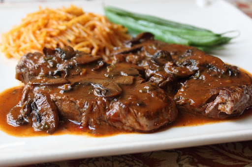 Beef Tenderloin Medallions with Caramelized Tomato Mushroom Pan Sauce – I'm Glad I Used All Clad