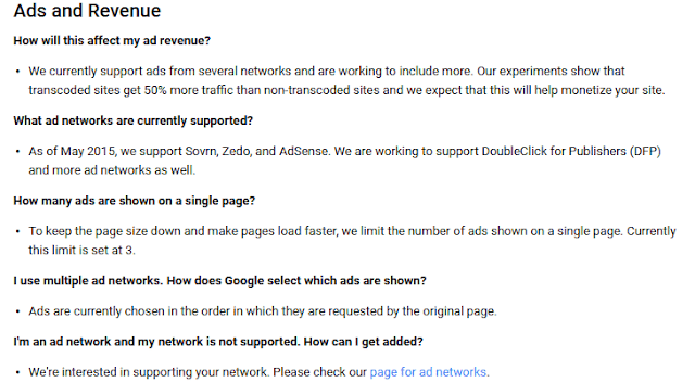 about ads and revenue googlle weblight