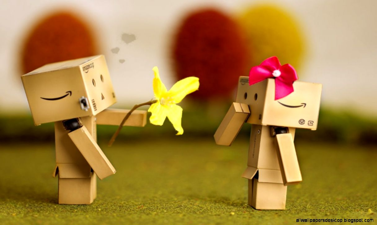 Cute Love Wallpaper Full Hd: Danbo Love In Apple Hd Wallpaper