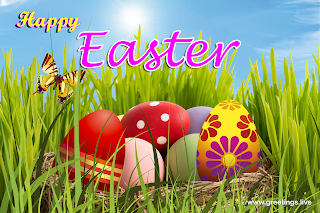 Easter Eggs Greetings Happy Easter day