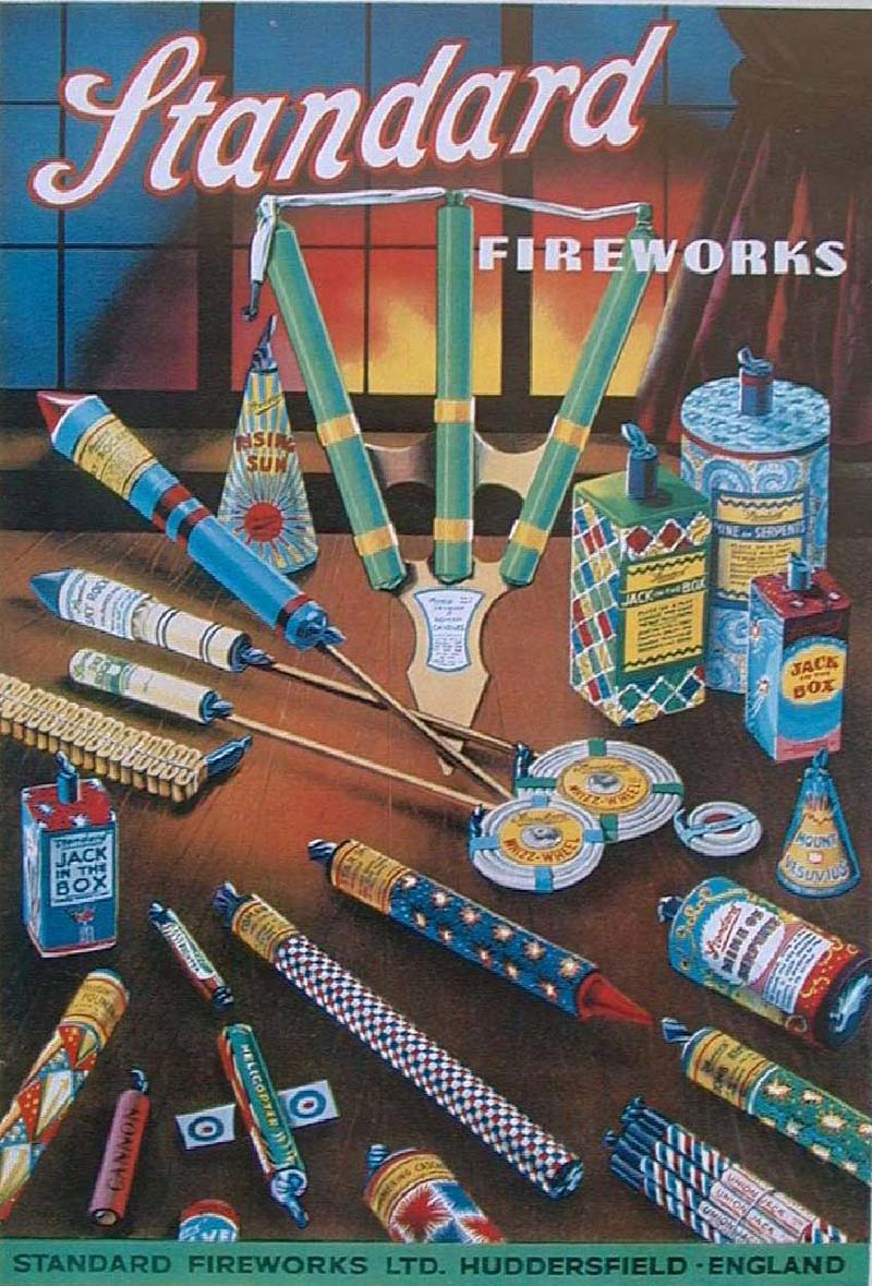 Vintage Fireworks Posters Packaging And Labels For The
