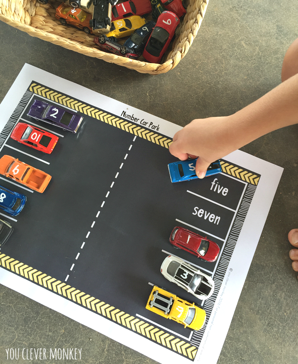 Activities for Car Crazy Kids - use your toy car collection to its full potential with this amazing list of activities to do with cars. Plenty of ideas for maths, literacy, early science, pretend play along with arts and craft ideas to try at home and in the classroom with your toddler to preschooler   you clever monkey