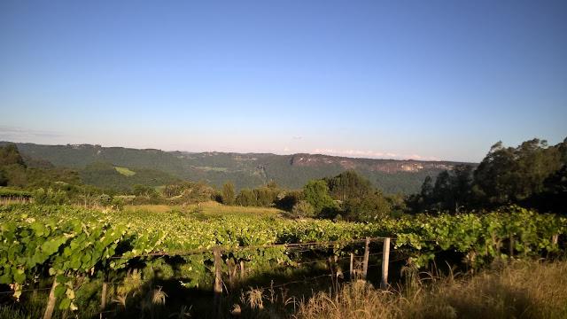 Paisagem rural no interior de Caxias do Sul