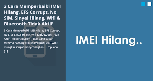 Bagi yang sudah terbiasa flashing atau install ROM via TWRP Cara Cepat Memperbaiki IMEI Hilang, EFS Corrupt, No SIM, Sinyal Hilang, Wifi & Bluetooth Tidak Aktif