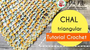 Cómo tejer Chal Triangular Fácil a Crochet | Tutorial 😍