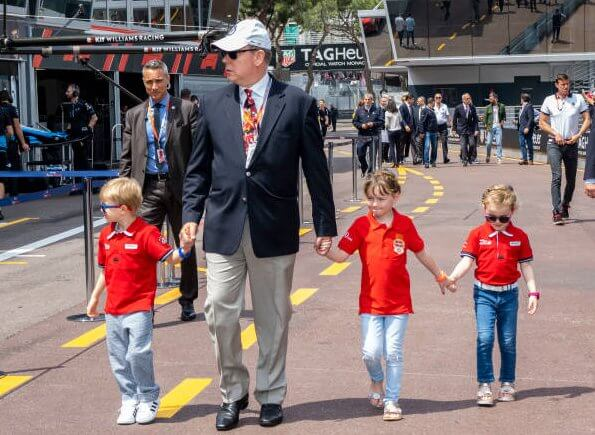 Prince Albert II, Prince Jacques, Princess Gabriella, Kaia Rose Wittstock, King Carl Gustaf, Carl Philip and Princess Alexandra