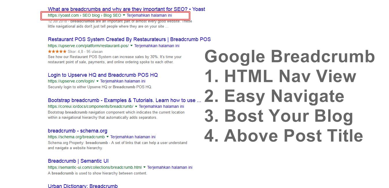 Rich Snippet Google Breadcrumb