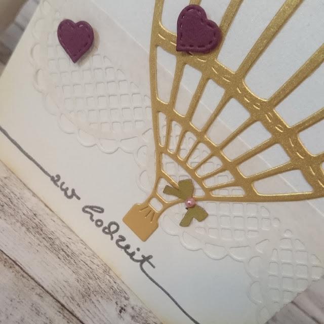 [DIY] Wedding Card: Golden Hot Air Balloon // Hochzeitskarte: Goldener Heißluftballon