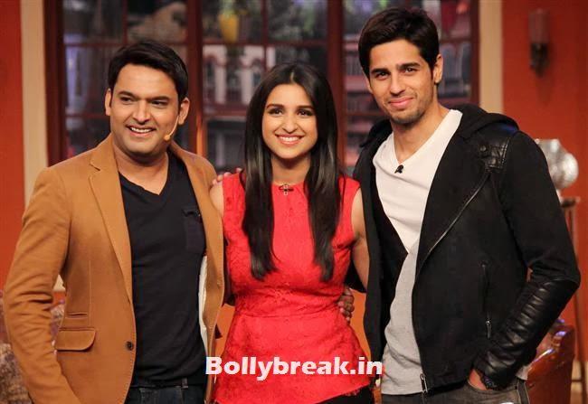 Kapil Sharma, Parineeti Chopra and Sidharth Malhotra, Parineeti & Sidharth on Comedy Nights with Kapil