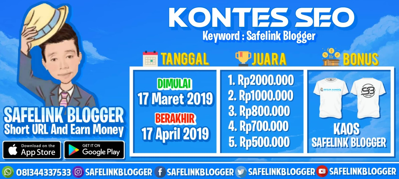 Safelink Blogger Short URL And Earn Money