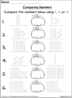 classroom freebies too halloween comparing numbers. Black Bedroom Furniture Sets. Home Design Ideas