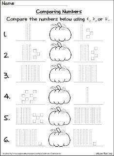 Classroom Freebies Too: Halloween Comparing Numbers