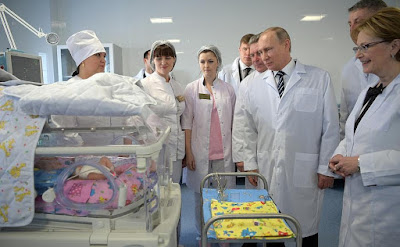 President Putin in the new perinatal centre at Bryansk City Hospital 1.