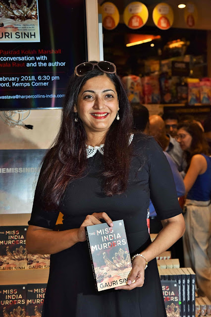 Author Gauri Sinh at Crossword Bookstores during the launch of her book The Miss India Murders