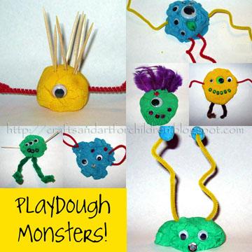 Crafts-N-Things  - Playdough Monsters
