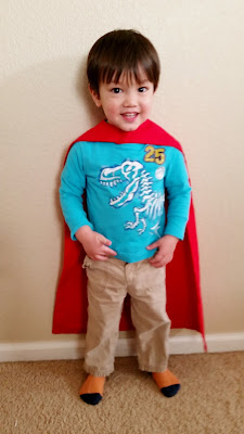 DIY sewing - toddler-sized Superman cape or Batman cape