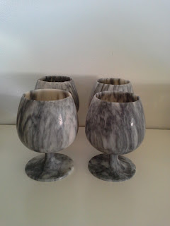 marble wine goblets