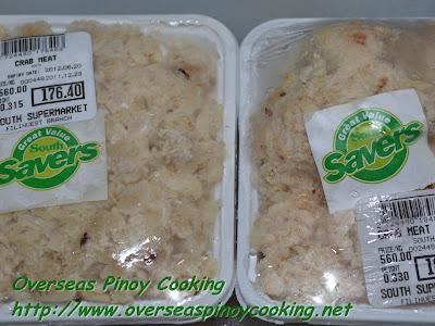 Kinunot na Alimasag - Crab Meat
