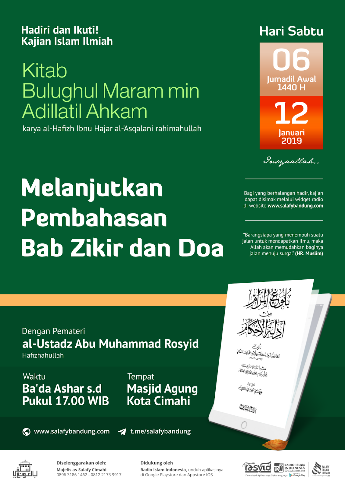 Audio Kajian Kitab al-Jami': Melanjutkan Pembahasan Hadits-Hadits tentang Doa