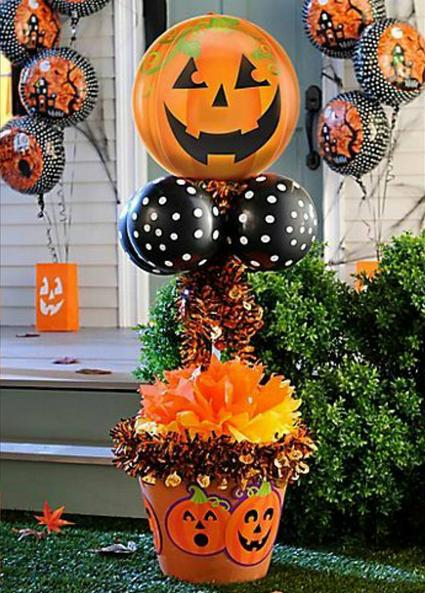 101 fiestas 14 ideas para Decorar Halloween con Globos